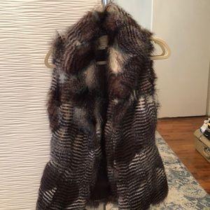 River island faux fur vest